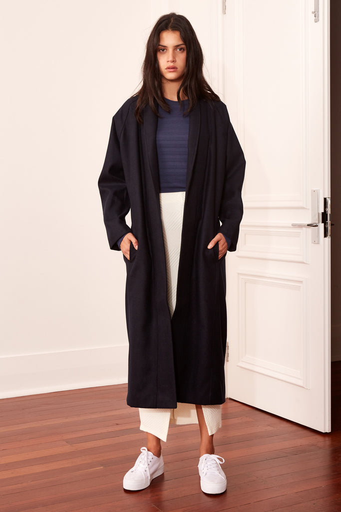 ASTEROID COAT navy