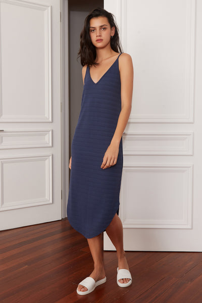 AXIS DRESS washed navy