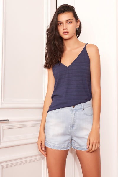 AXIS TOP washed navy