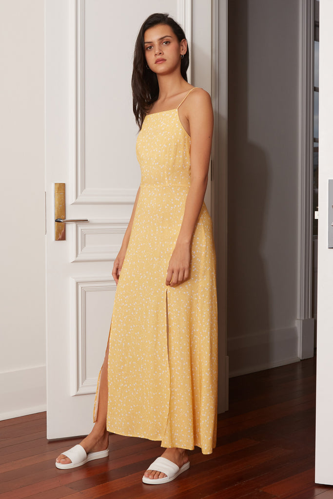 CELEBRATED MIDI DRESS butter sparkler