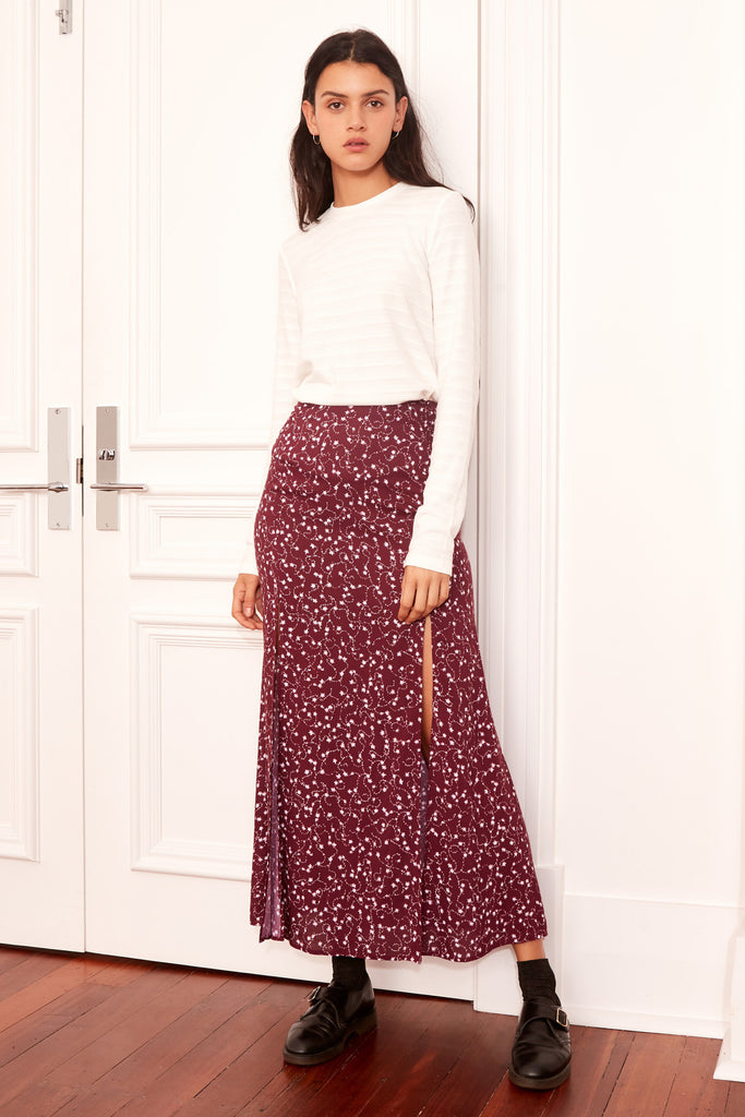 CELEBRATED SKIRT plum sparkler