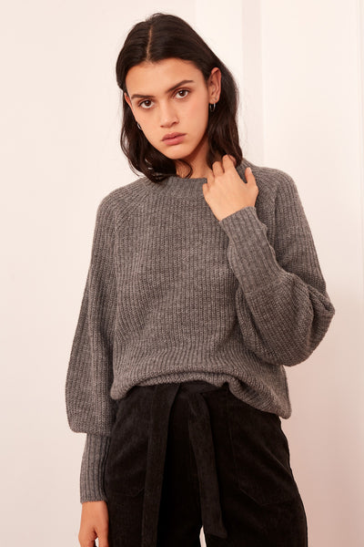 LUMINOSITY KNIT grey marle