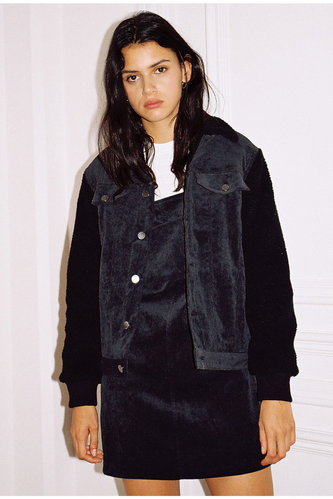 PHILOSOPHY JACKET washed black