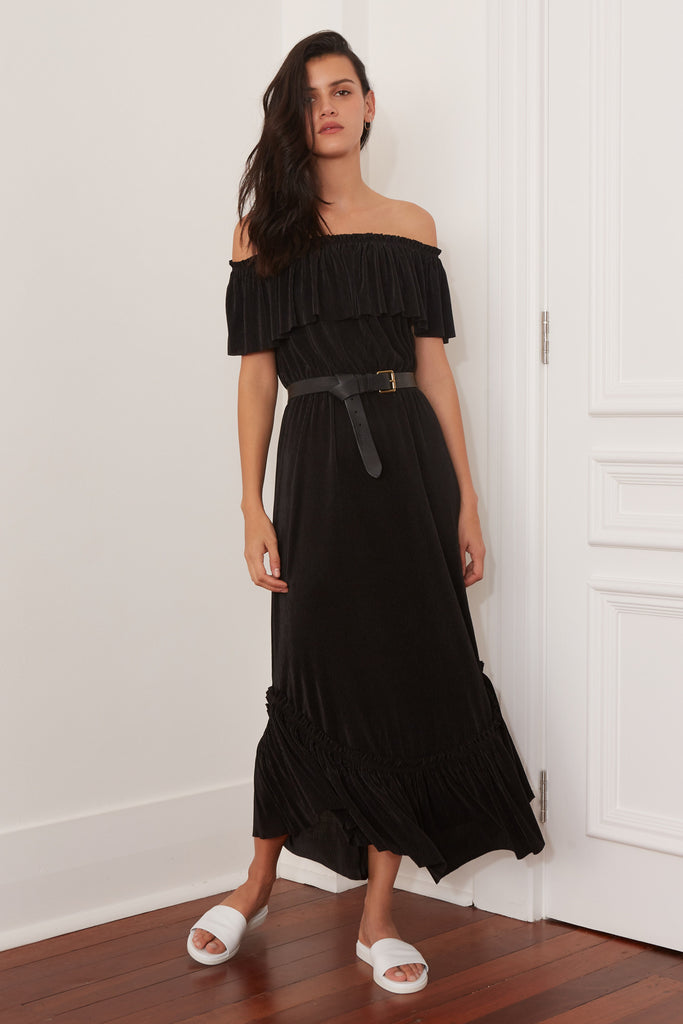 RELATIVITY MAXI DRESS black