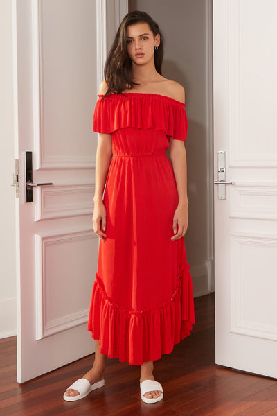 RELATIVITY MAXI DRESS scarlet