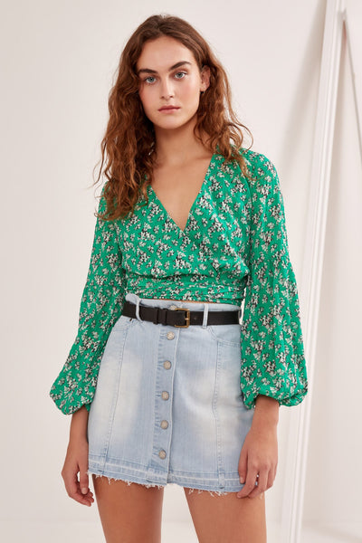 ADVENTURER TOP green floral