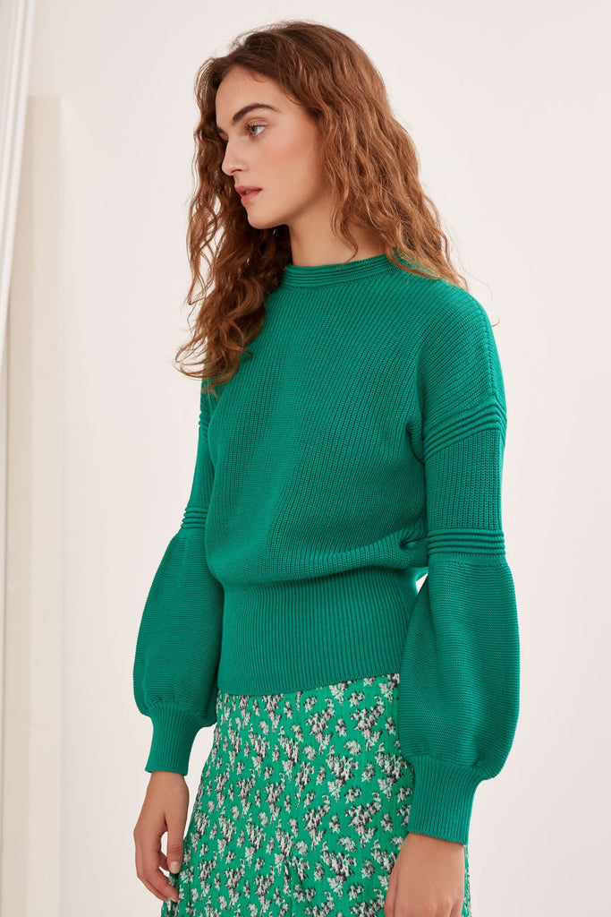 EXPLORE KNIT green