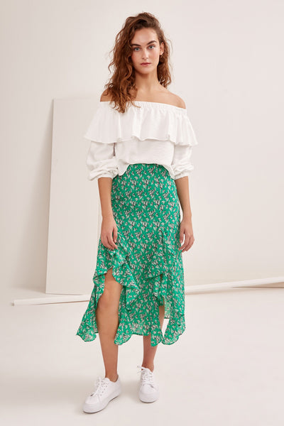 ADVENTURER SKIRT green floral