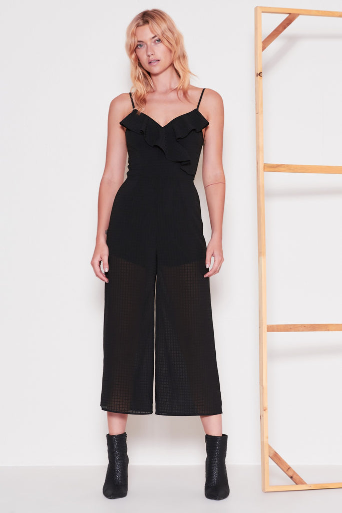 WINDOW JUMPSUIT black