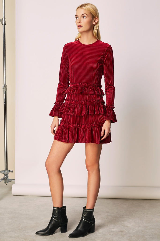 ADORE LONG SLEEVE DRESS cherry