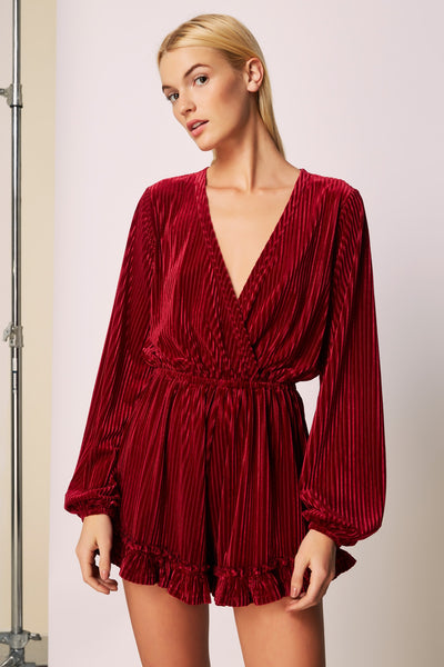 d695951deb ADORE LONG SLEEVE PLAYSUIT cherry