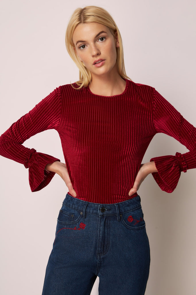 ADORE LONG SLEEVE TOP cherry