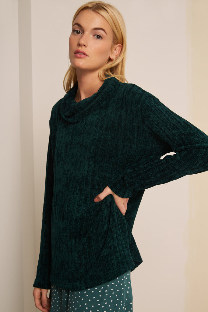 VIVACIOUS KNIT forest green