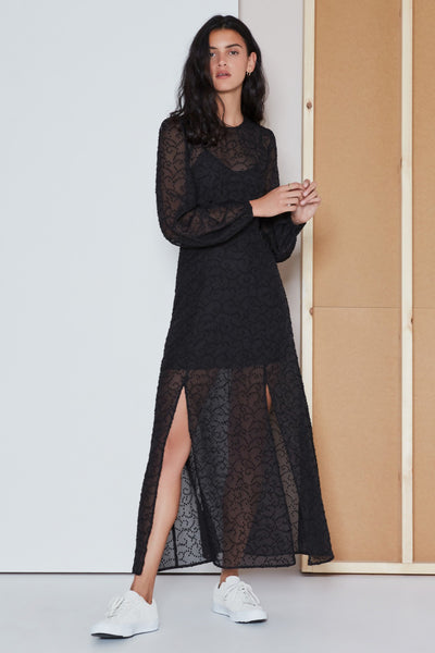 RHYTHM LONG SLEEVE DRESS black