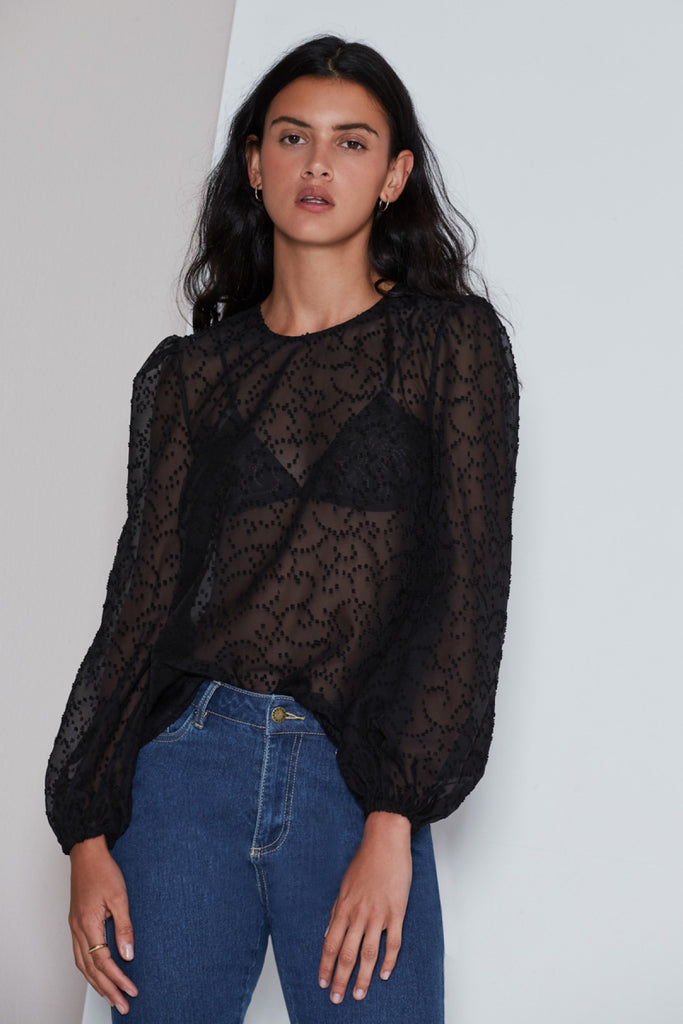 RHYTHM LONG SLEEVE TOP black