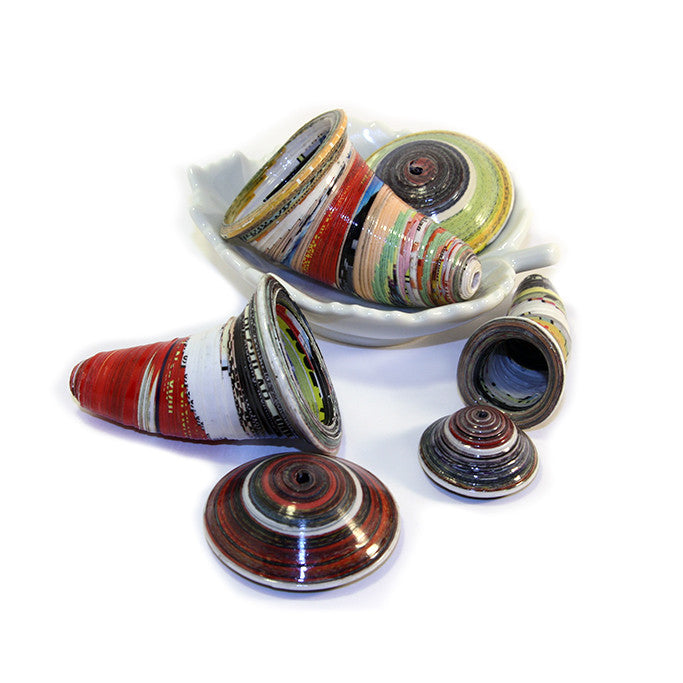 Cocoon Paper Beads (Small, Medium, Large)