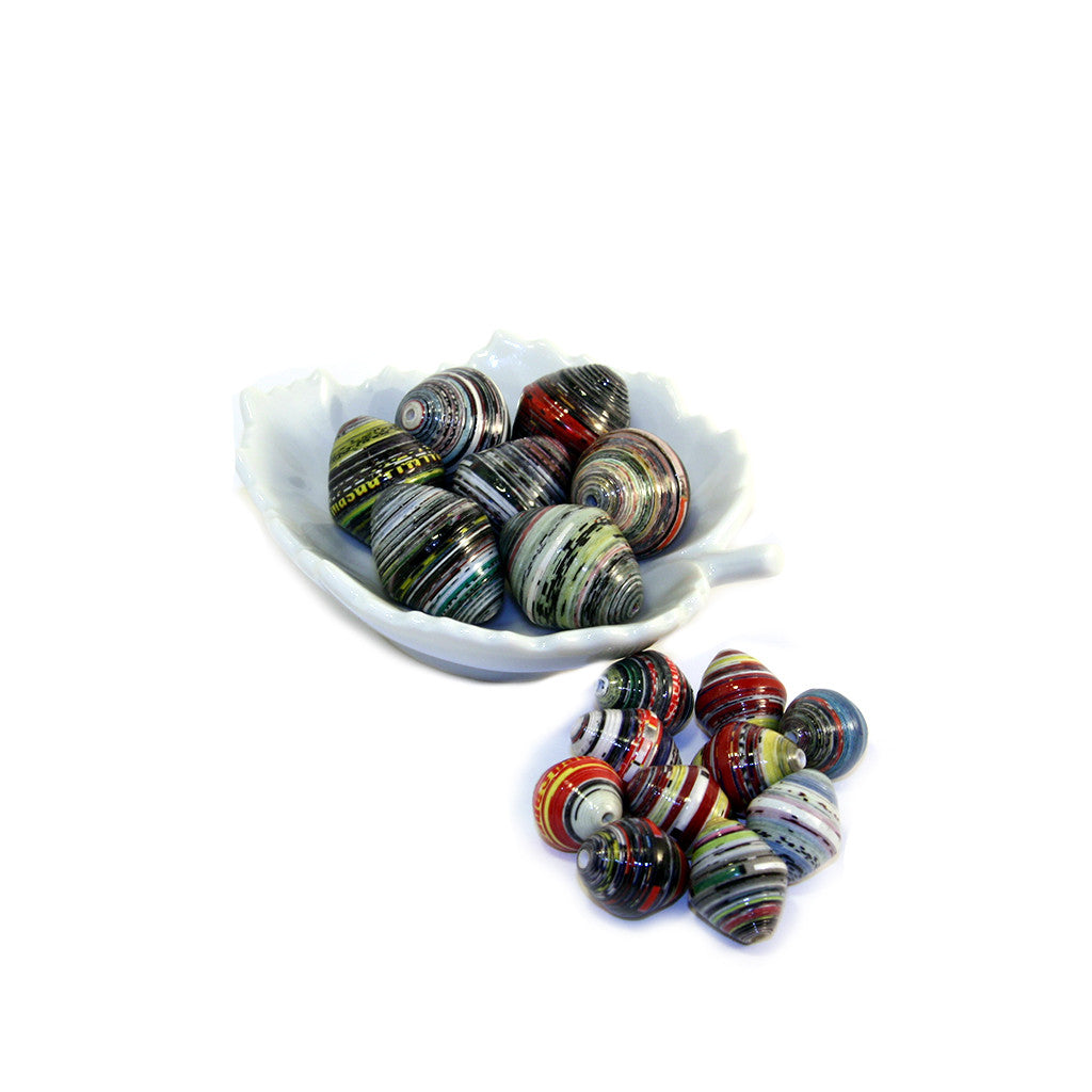Double Bicone Paper Beads