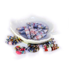 Tube and Olive Paper Beads