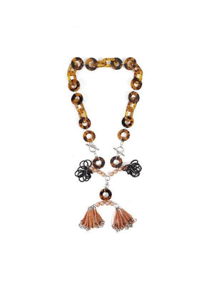 MIRA Necklace :PERSIMMON - YARD YARN - Handcrafted Jewelry - Singapore
