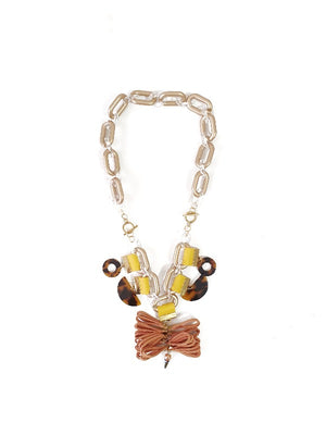 Jada Necklace in Honey - YARD YARN - Handmade Jewellery - Singapore