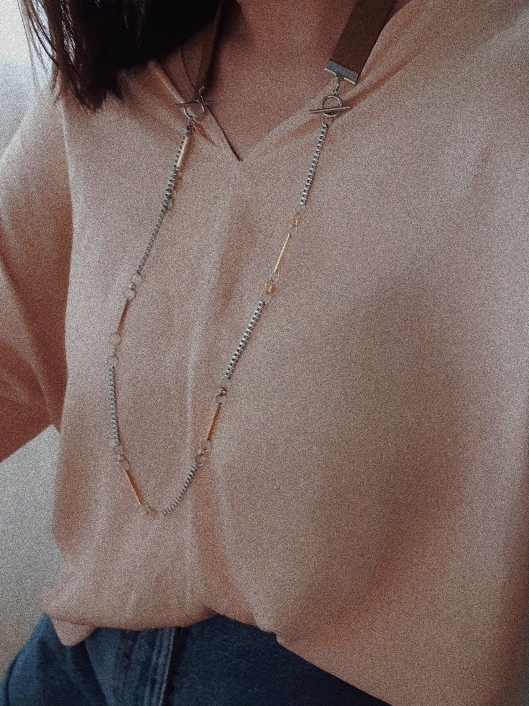 Provision | Neck Strap with Silver Toggle Clasps - YARD YARN - Handmade Jewellery - Singapore