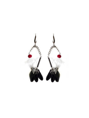 Andrea Earrings in Black - YARD YARN - Handmade Jewellery - Singapore