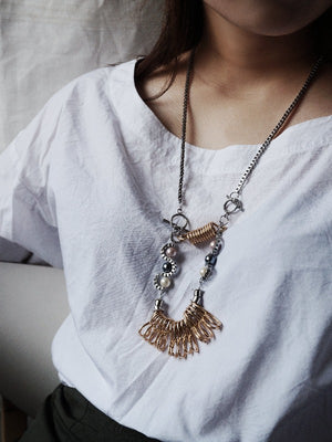 CLEO Necklace :GOLD - YARD YARN - Handcrafted Jewelry - Singapore
