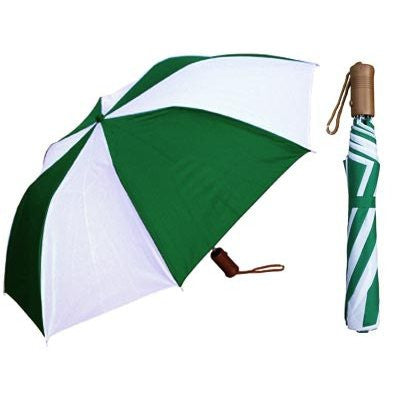 Auto-Open Deluxe Umbrella - Two- Tone Colors with Wood Handle