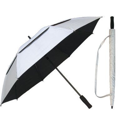 Silver Coated Wind Resistant Umbrella