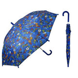 Blue Sport Print Kids Umbrella