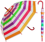 Clear Color Stripes Umbrella