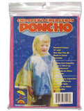 Children's Emergency Disposable Clear Rain Ponchos