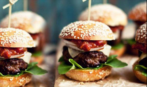 kongernes sliders - mini burgere - take away