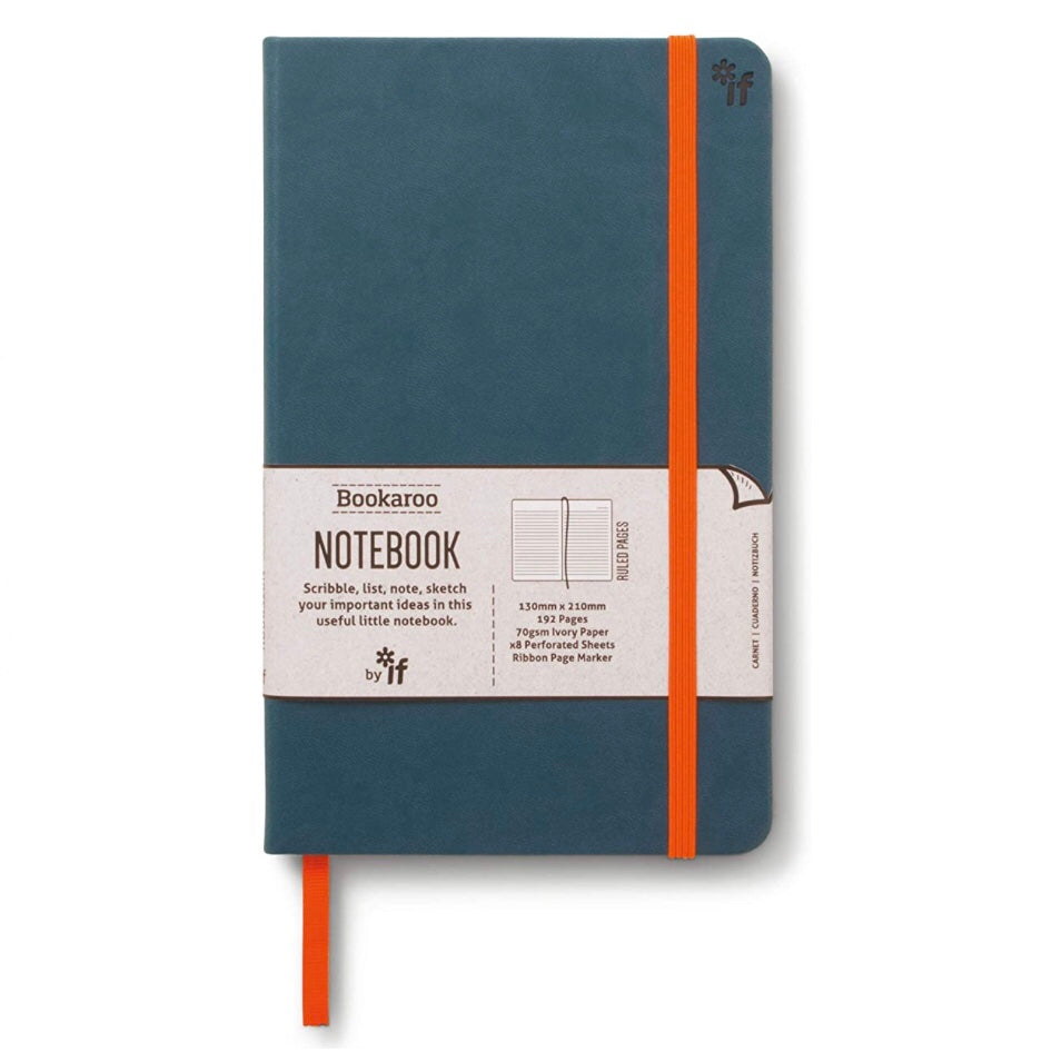 Teal blue cover lined notebook