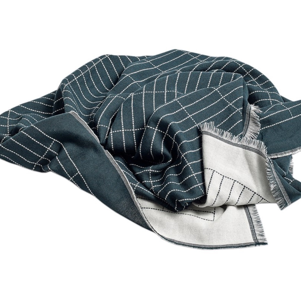 Checked Out Fine Merino Wool Throw - indish-design-shop-2
