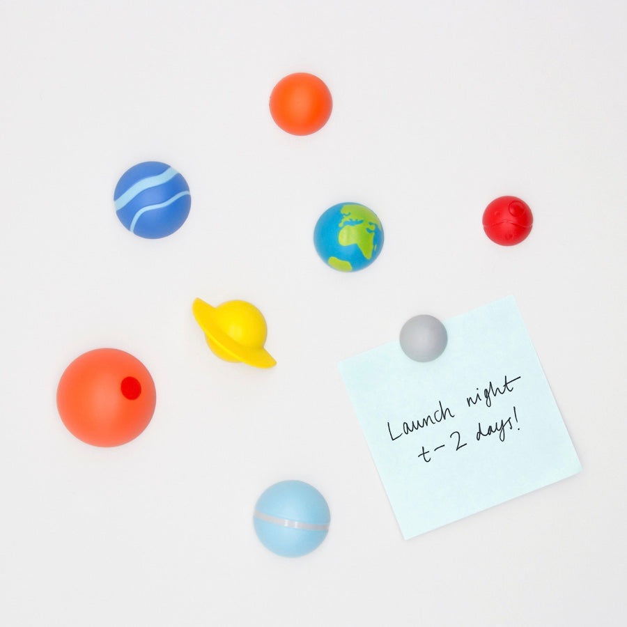 Planet fridge magnets by Suck UK