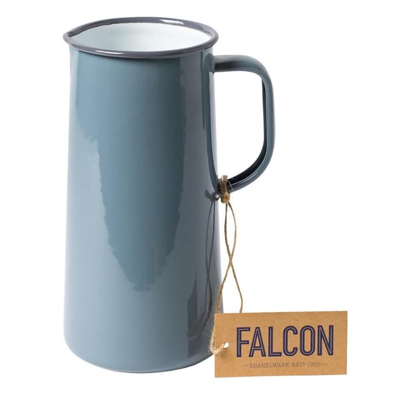 Falcon Enamelware Enamel 3 pint jug in pigeon grey