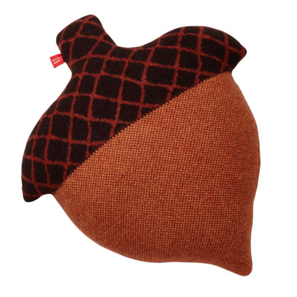 Wool Acorn Cushion in brown by Donna Wilson