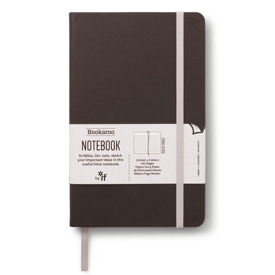 Black cover lined notebook