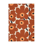 Pieni Unikko Tea Towel in Chestnut Brown