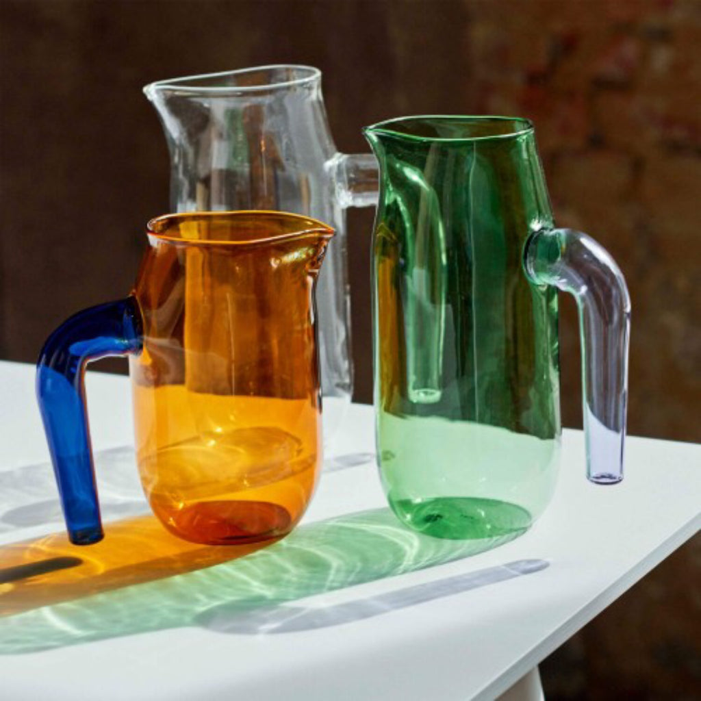 Borosilicate glass jugs by HAY