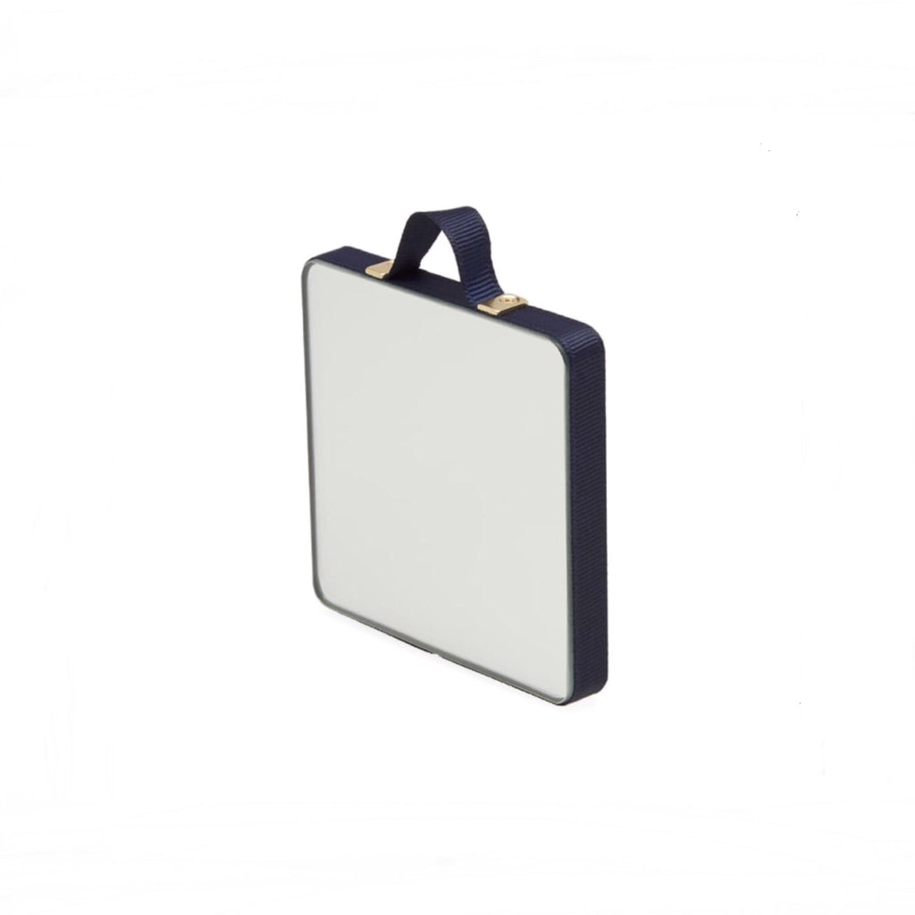 Ruban extra small square mirror dark blue