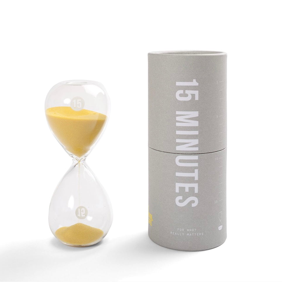 15 Minutes Hourglass Timer by The School of Life