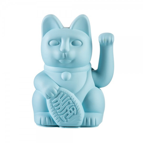Lucky Waving Cat in light blue