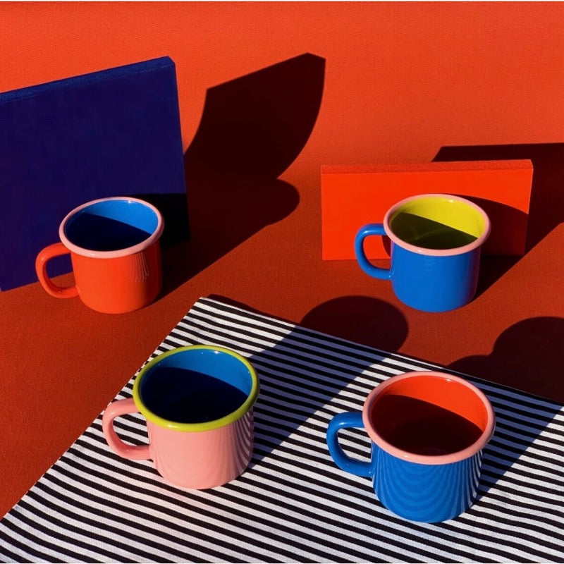 Colorama enamel mugs