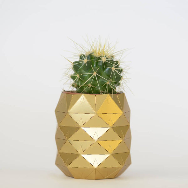 Pineapple Brass Plant Pot