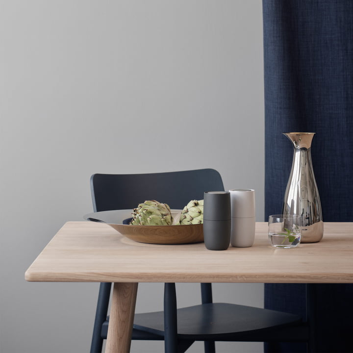 Foster Salt and Pepper Mills designed by Norman Foster for Stelton