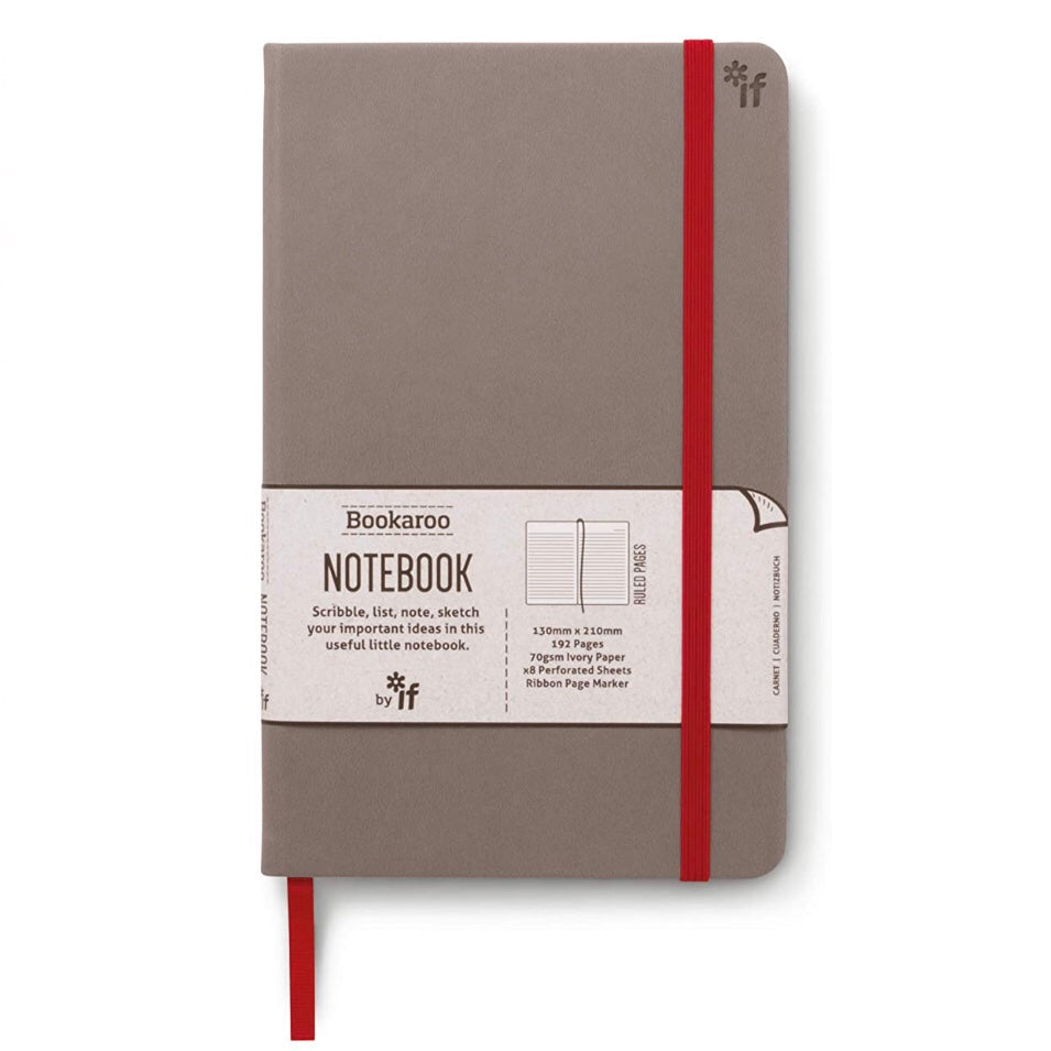 Grey cover lined notebook
