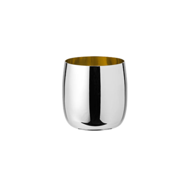 Polished steel tumbler designed by Sir Norman Foster