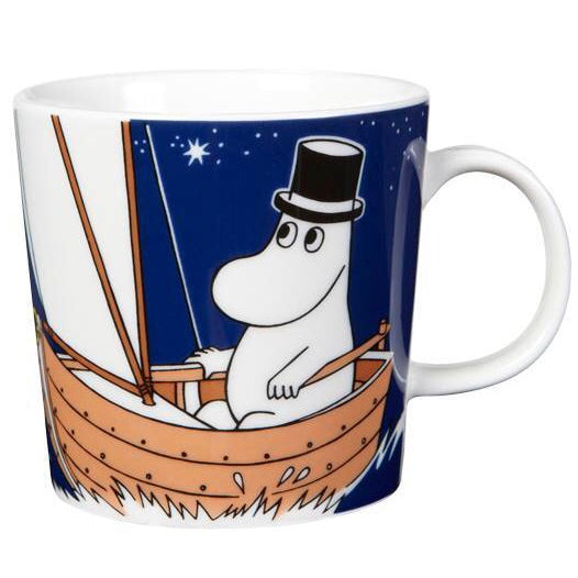 Moomin dark blue ceramic mug